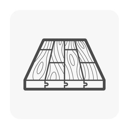 Pavimento in legno e icona del materiale.
