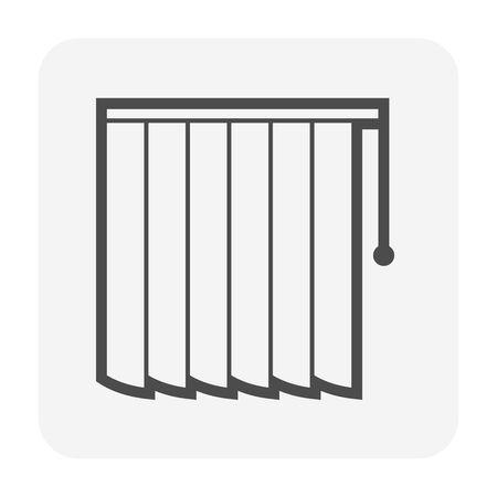 Vorhang- und Blind-Icon-Design.