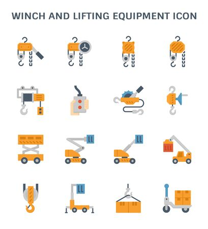 winch lifting icon