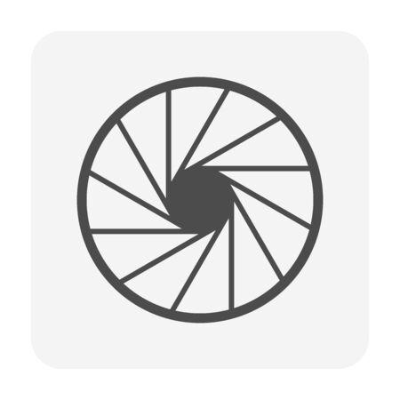 Diseño de icono de vector de tecnología de producción de película y obturador. Ilustración de vector
