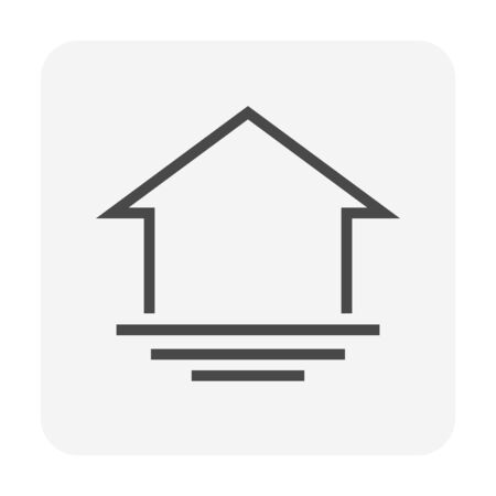 Water flooding vector icon design for home problem graphic design element, editable stroke. 向量圖像