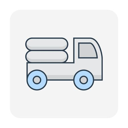 Natural gas for vehicle icon, editable stroke. Ilustracja