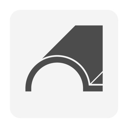 Roof tile and material icon design. Çizim