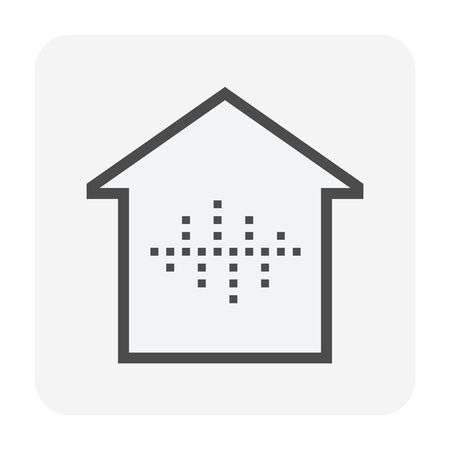 Smart home and voice control technology vector icon design.