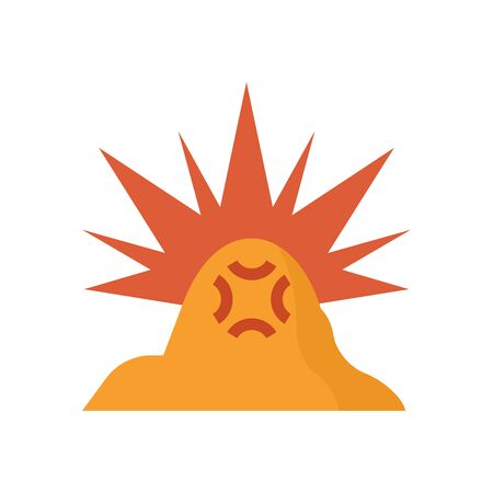 Mine exploding vector icon design on white background.