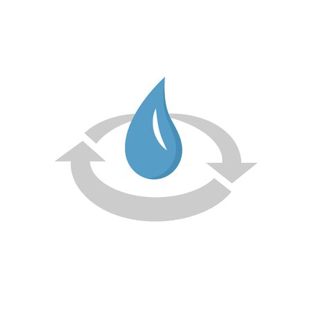 Water icon treatment vector icon design for water treatment industrial graphic design element. 向量圖像