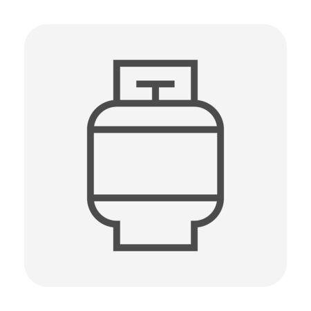 LPG gas tank vector icon design for welding work graphic design element, editable stroke.