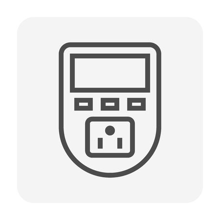 Timer switch for electricity control icon design. Ilustracja