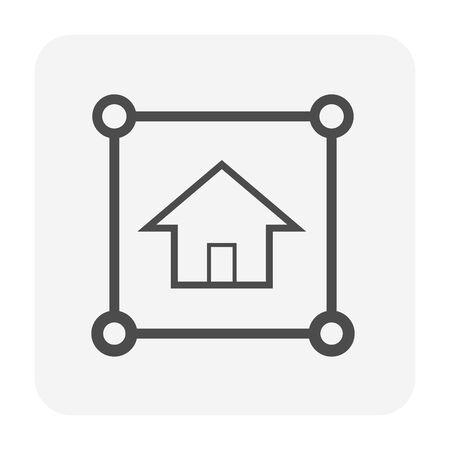 Real estate business icon design.