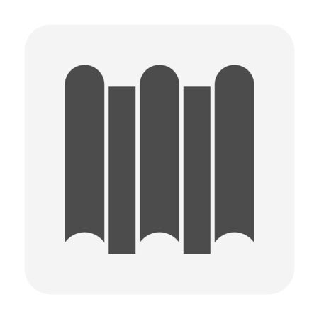 Roof tile and material icon design. Ilustracja