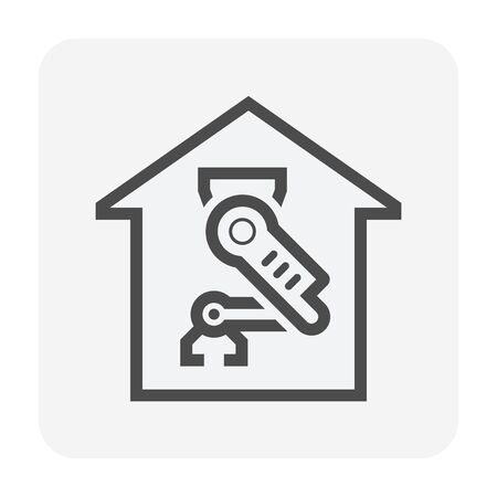 Smart home and robot technology vector icon design.