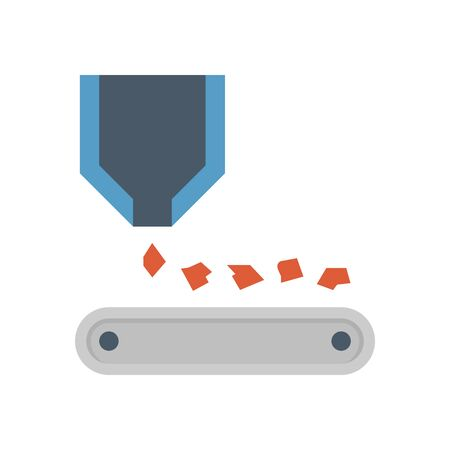 Ore and production line vector icon design on white background. 일러스트