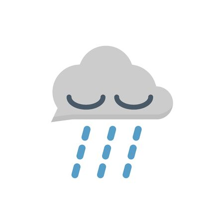 Rain and clouds vector icon design for water work graphic design element.