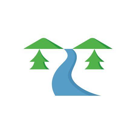 Water stream vector icon design for water work graphic design element.