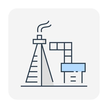 Oil gas vent icon design for industry work, editable stroke.