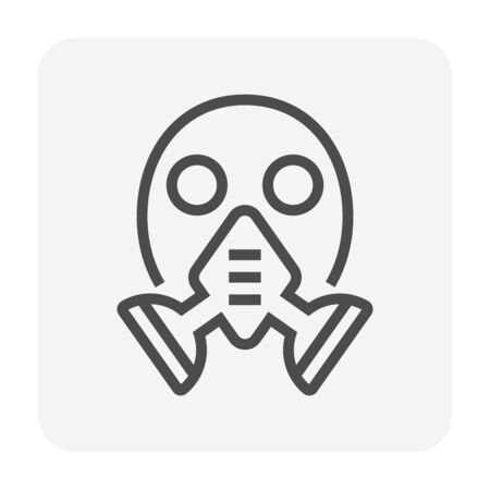 Gas mask vector icon design for welding work graphic design element, editable stroke. 일러스트
