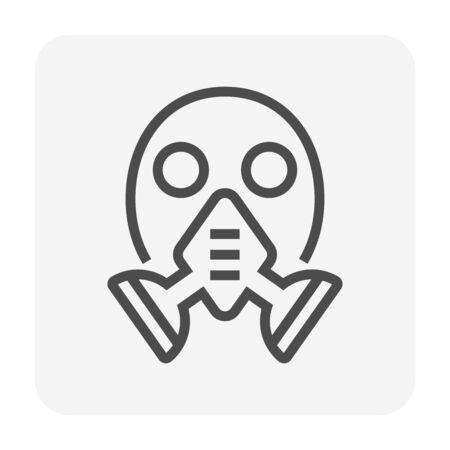 Gas mask vector icon design for welding work graphic design element, editable stroke. Illusztráció