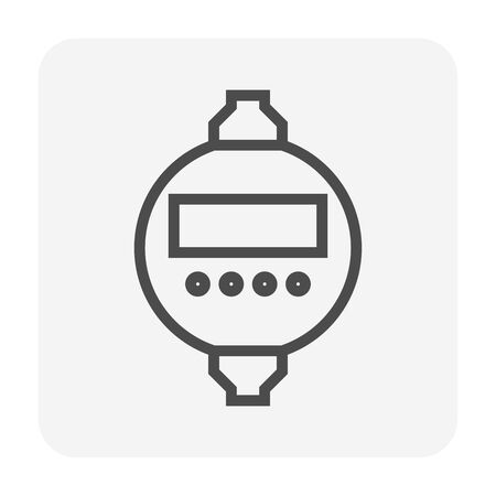 Timer switch for electricity control icon design. Иллюстрация