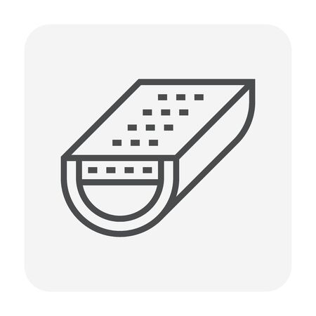 Gutter and drainage system icon, 64x64 perfect pixel and editable stroke. Illusztráció