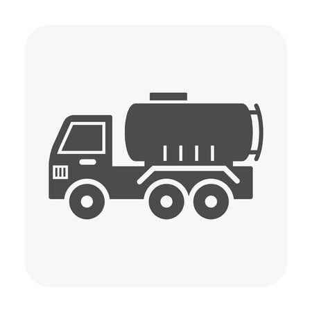 Oil gas and equipment icon on white.