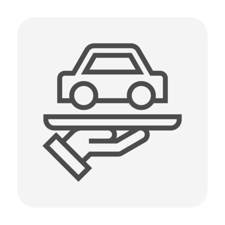 Used car and dealership icon for used car business graphic design element, editable stroke. Standard-Bild - 138429746