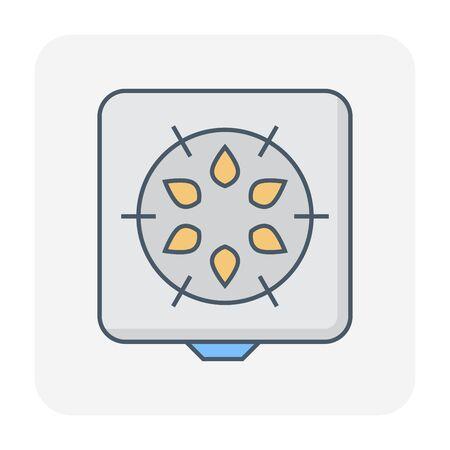 Gas stove icon, editable stroke.