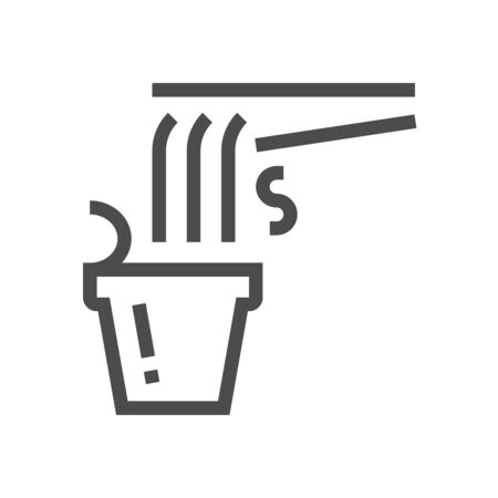 Noodle in cup vector icon design for food graphic design element work. 向量圖像