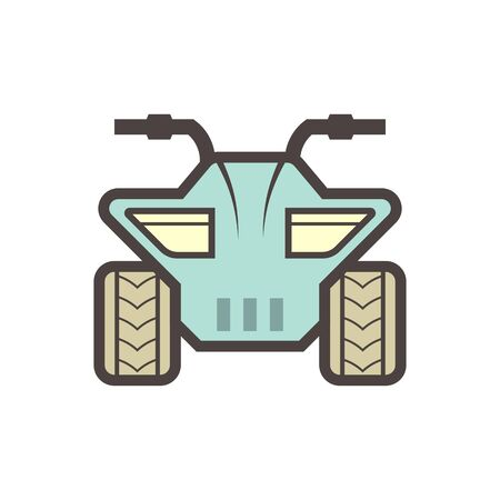 Off road vehicle vector icon design element.