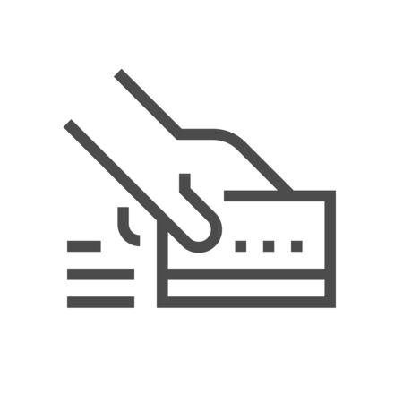 Credir card purchase cvector icon design for financial graphic design element.
