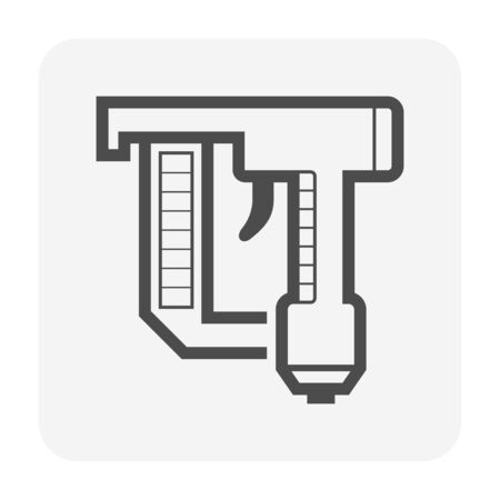 Nail gun icon design, editable stroke.