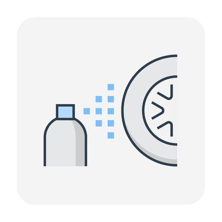 Car wash and service icon, editable stroke.