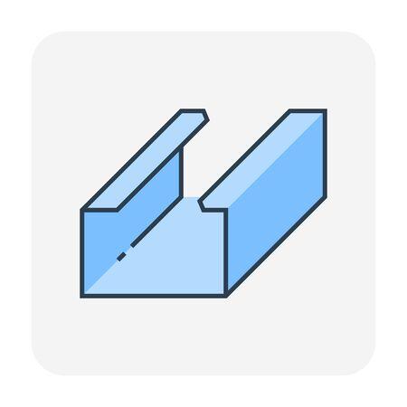 Icône de travail et matériel de plafond, course modifiable.