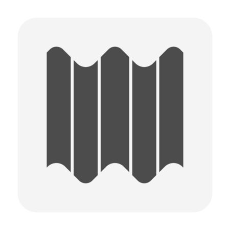 Roof tile and material icon design. 일러스트
