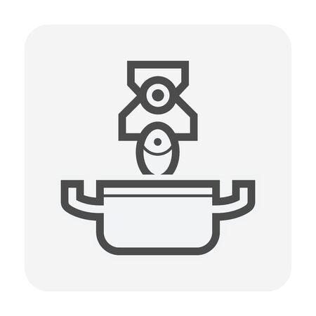 Smart home and robot chef technology vector icon design.
