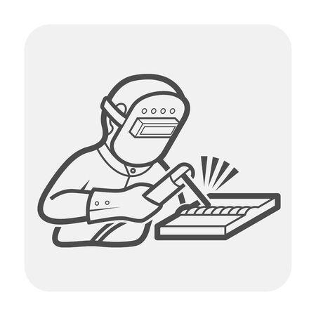 Welder and welding vector icon design. Ilustração