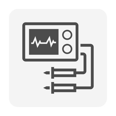 Electronic measurement equipment vector icon design. Çizim