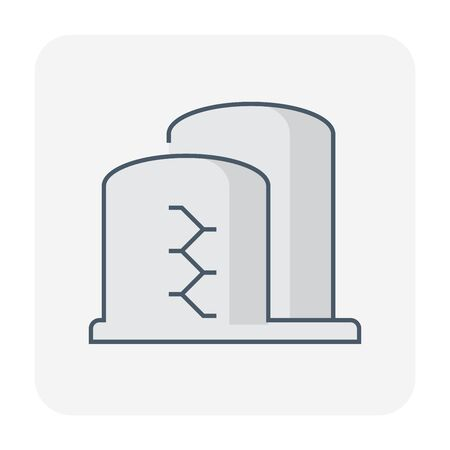 Gas tank storage icon, editable stroke.
