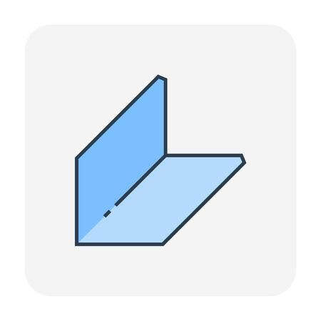 Ceiling work and material icon, editable stroke.