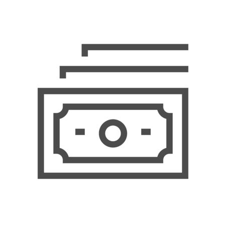 Banknote vector icon design for financial graphic design element.