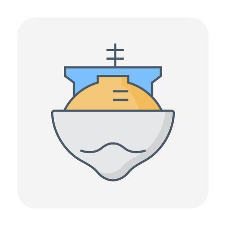Natural gas shipping icon, editable stroke. Vektoros illusztráció