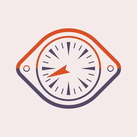 Gauge meter vector icon  design on purple.