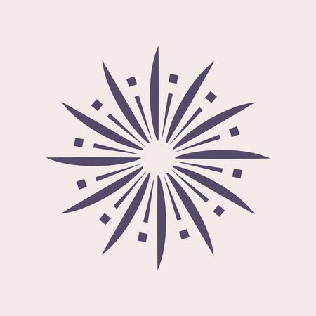 Firework and sparkle vector icon design.