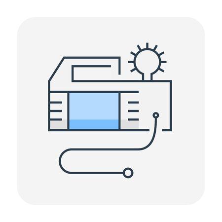Air pump tool icon design, editable stroke. Vettoriali
