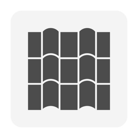 Roof tile and material icon design.  イラスト・ベクター素材
