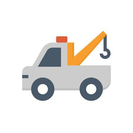 Auto Abschleppdienst Vektor Icon Design auf weißem Hintergrund.