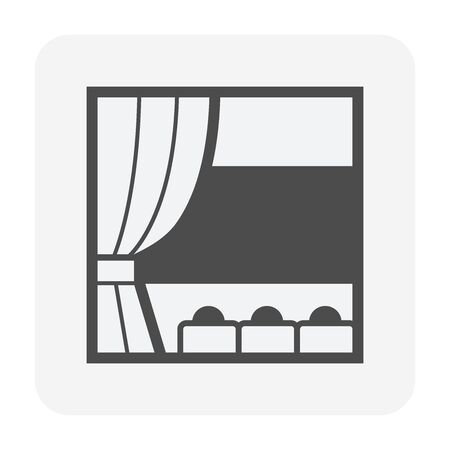 Theater and curtain vector icon design.  イラスト・ベクター素材