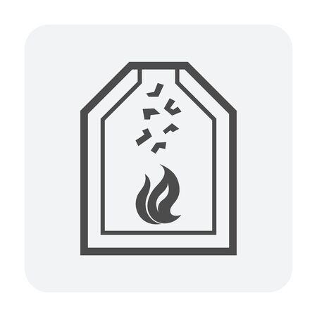 Ore burn vector icon design on white background. 向量圖像