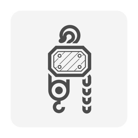 Winch vector icon design on white.