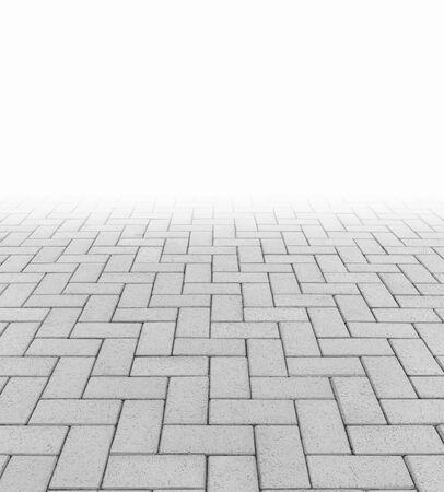 Concrete paver block floor pattern for background. Foto de archivo