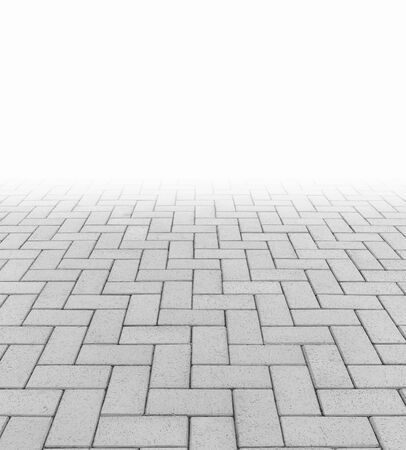 Concrete paver block floor pattern for background. Stock Photo